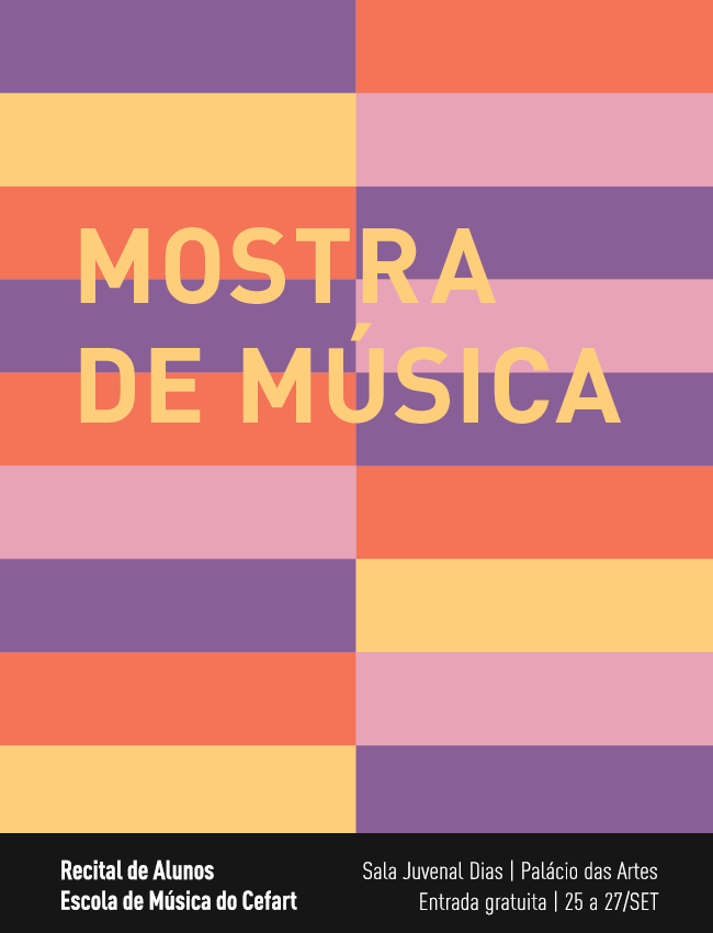 Evento: Mostra da Escola de Música do Cefart