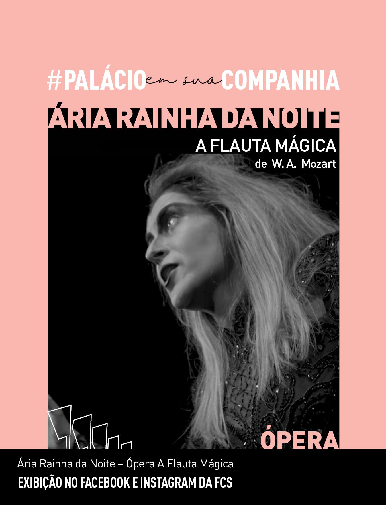 Evento: Famosa ária da ópera A Flauta Mágica  é destaque do novo vídeo do #palacioemsuacompanhia