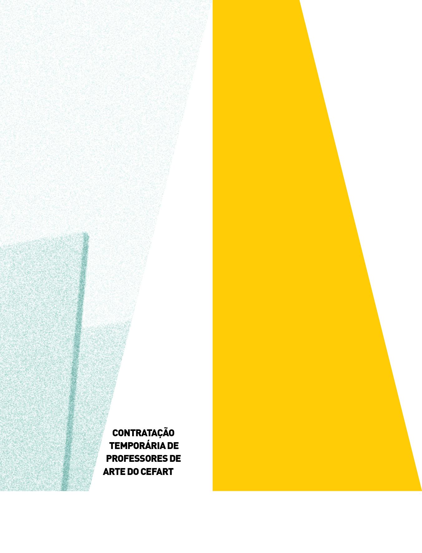 Evento: Edital de Contratação de Professores de Arte 2021/2022 | Cefart