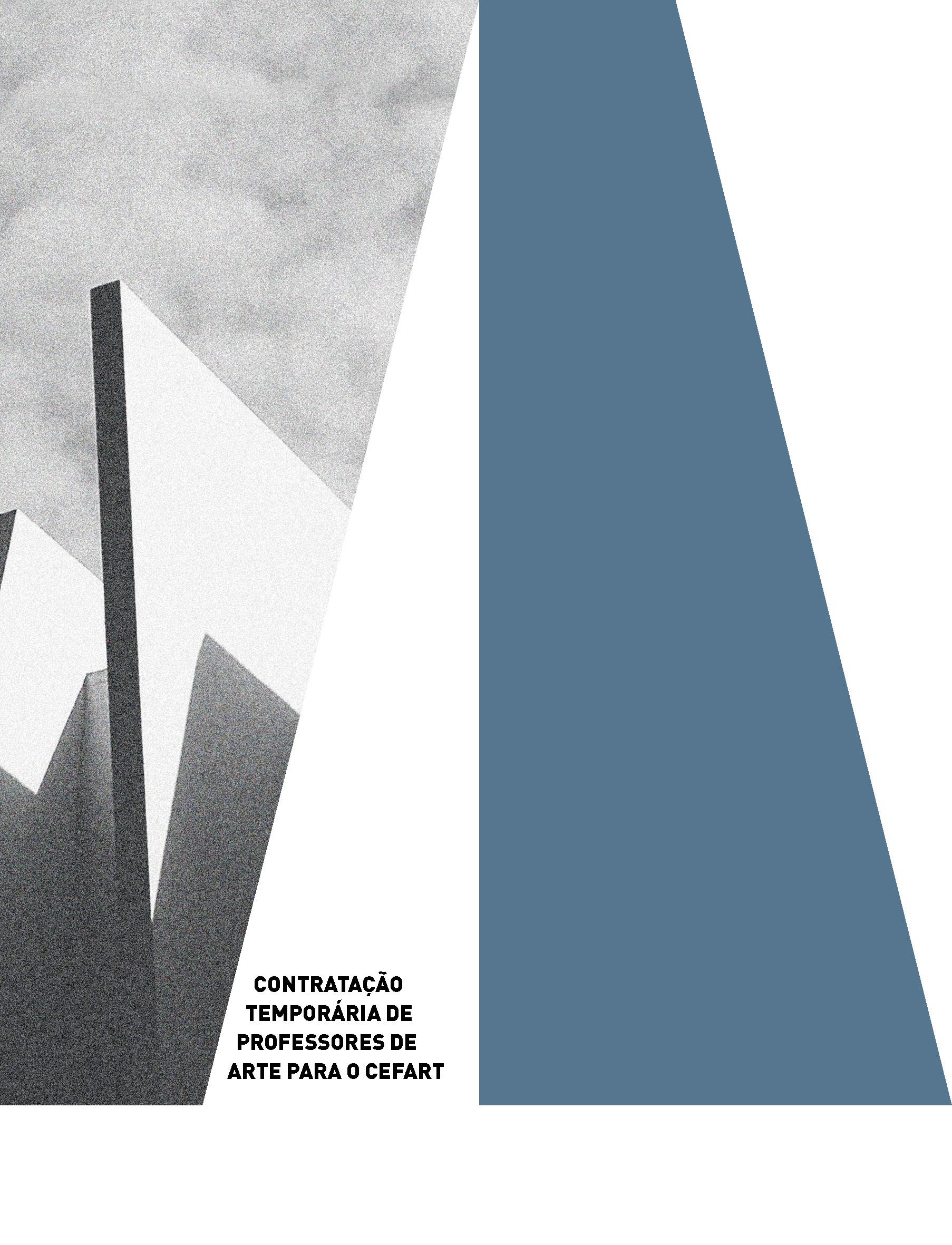 Evento: Edital de Contratação de Professores de Arte 2021/2022   Cefart