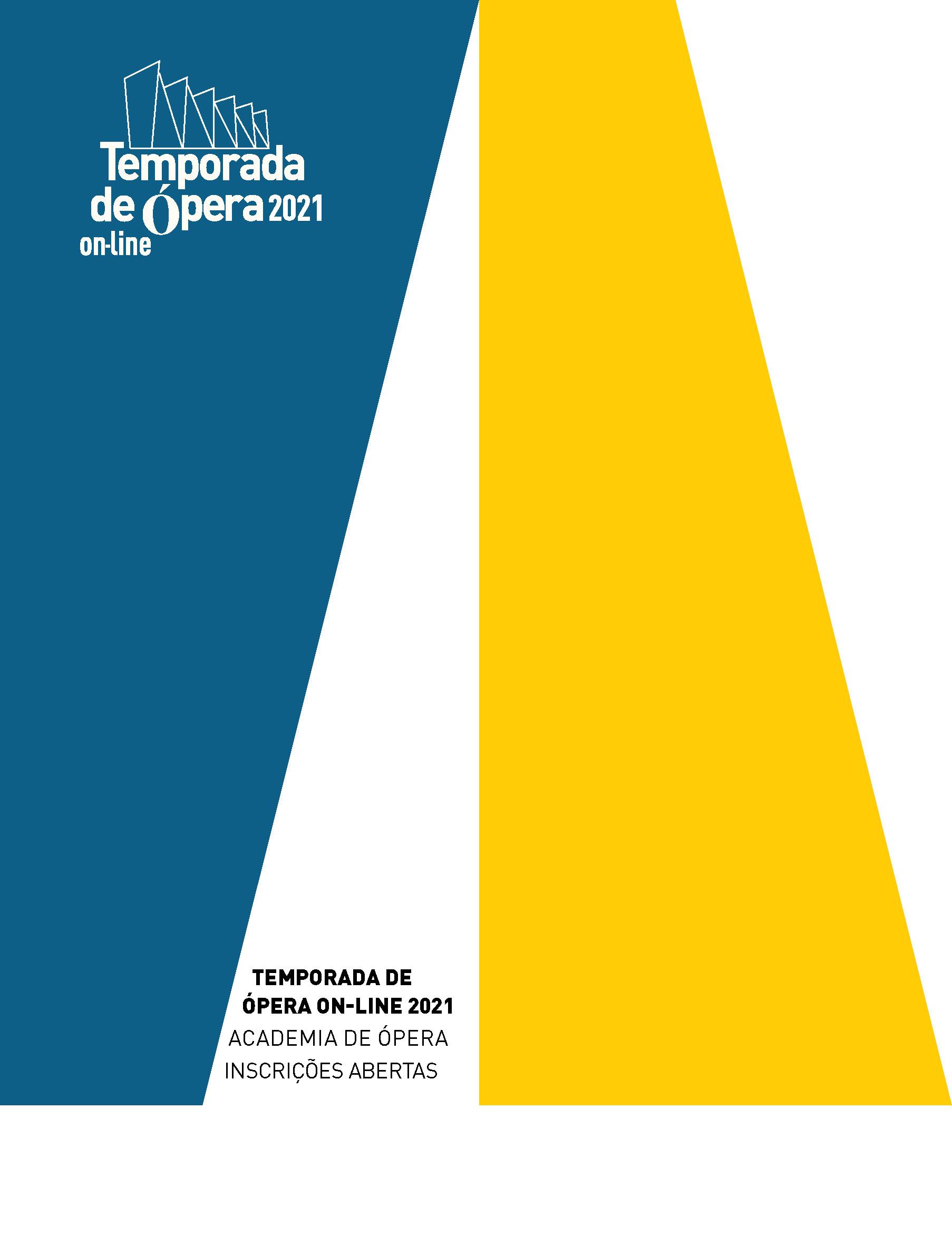 Evento: TEMPORADA DE ÓPERA ON-LINE 2021 | INSCRIÇÕES ABERTAS